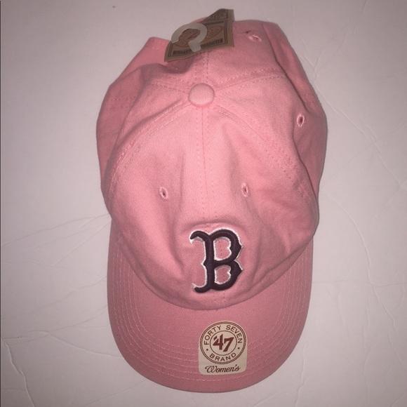 9f0033b4d0c341 47 brand Accessories | Women Pink Mlb Boston Red Sox Adjustable Hat ...